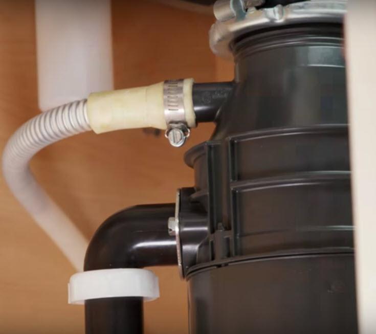 how to hook dishwasher to garbage disposal